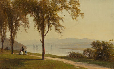 George Henry Smillie, 'The Catskills from Hudson ', 1867