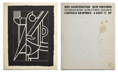 "Roy Lichtenstein, '""New Editions, Lithographs, Sculpture Reliefs"", 1970, Exhibition Mailer/Catalogue, Leo Castelli Gallery NYC', 1970"