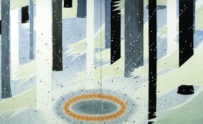 "Michiko Itatani, '""Cosmic Wanderlust"" Painting from Moon-light/Mooring CW-1', 2009"