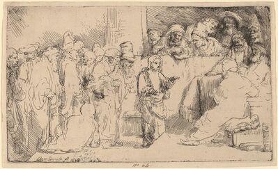 Rembrandt van Rijn, 'Christ Disputing with the Doctors: a Sketch', 1652