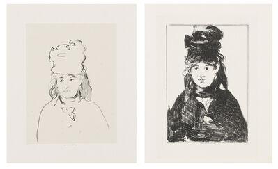 Édouard Manet, 'Berthe Morisot in Outline', 1872-74