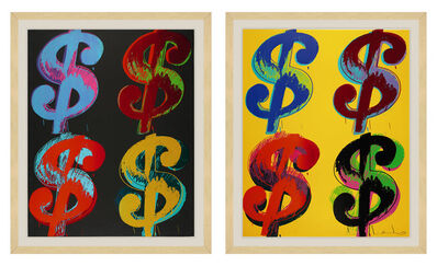 Andy Warhol, '$ (4) F&S II.281-282 (two pieces)', 1982