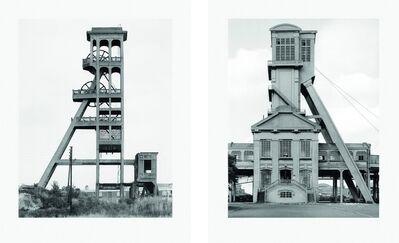 Bernd and Hilla Becher, 'Zwei Fördertürme (set of two)', 2004