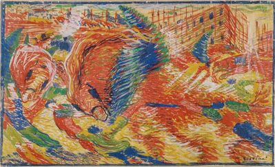 Umberto Boccioni, 'The city rises', 1910