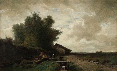 Gustave Eugène Castan, 'Prés de Bourbon Lancy', not dated