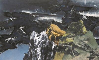 Liu Kuo-sung 刘国松, 'Dusk amid Green Mountains 暮徙碧山下', 1967