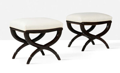 Louis Süe and André Mare, 'Set of 2 stools', circa 1926
