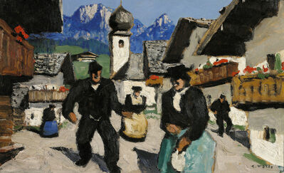 Alfons Walde, 'Sunday in the Village', 1932