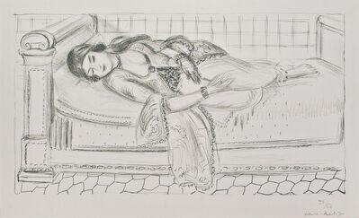 Henri Matisse, 'Orientale sur lit repos, sol de carreaux rouges', 1929