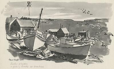 Bernard Brussel-Smith, 'Lobster Shacks and Fishing Boats at Greenhead [Maine]', ca. 1954