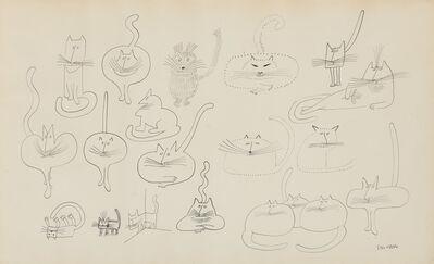 Saul Steinberg, 'Cats'