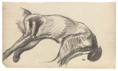 Théophile Alexandre Steinlen, 'Etude d'un corps de chat allonge', 1910-1915