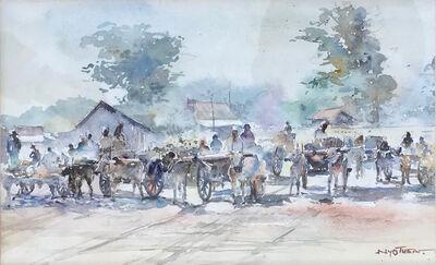 Nyo Thein, 'Ox Carts', undated