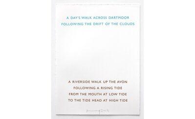 Richard Long, 'Two Walks', 2008
