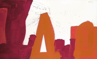Markus Prachensky, 'rot auf weiß - Solitude - II', 1964