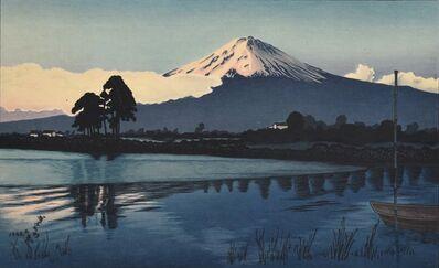 Gihachiro Okuyama, 'Landscapes with Mt Fuji: No. 1, Lake Kawaguchi at Dawn', 1948