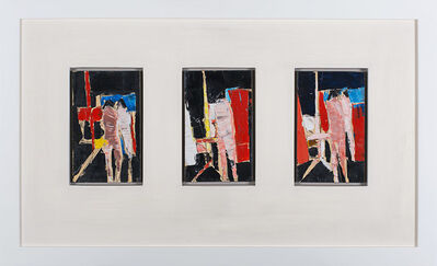 Peter Kinley, 'Three Studies for Figures with Mirror and Easel', 1960