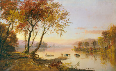 Jasper Francis Cropsey, 'Greenwood Lake', 1871