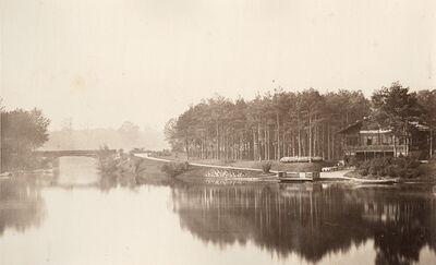 Charles Marville, 'Vue du Pont et Chalet des îles, Bois de Boulogne', 1858/1858