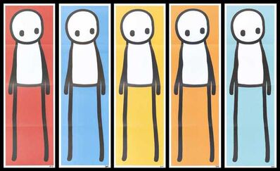 Stik, 'Standing Figure (Red, Blue, Yellow, Orange & Teal)', 2015