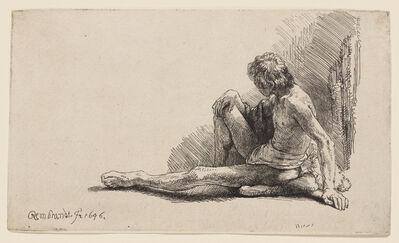 Rembrandt van Rijn, 'Study from the Nude', 1646