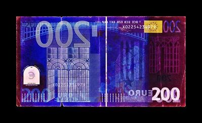 David LaChapelle, 'Negative Currency: Two-Hundred Euro Used as Negative', 2018