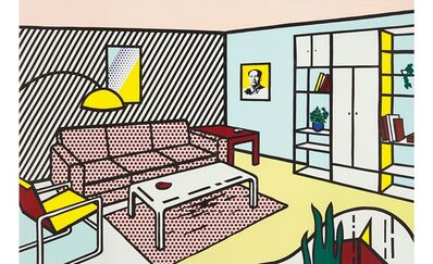 Roy Lichtenstein, 'Modern Room (Interiors)', 1990