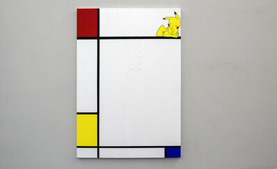 Michael Pybus, 'Composition No III, with Red, Pikachu and Blue', 2018