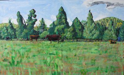 John Borden Evans, 'Five Cows in Spring ', 2018