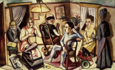 Max Beckmann, 'Before the Masked Ball', 1922