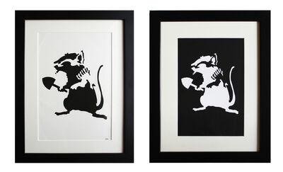 Banksy, 'Rat Stencil (extra framed reverse stencil included)', 2002