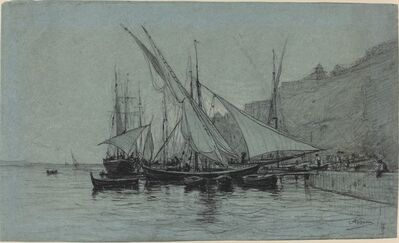 Adolphe Appian, 'The Port of Monaco', 1873