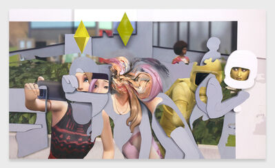 Pieter Schoolwerth, 'Shifted Sims #1 (Get Together)', 2020