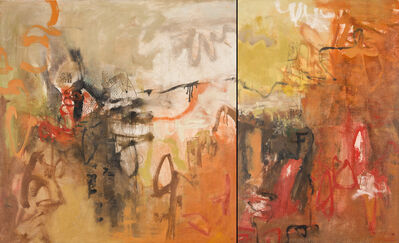 Leslie Allen, 'Cliff Hanging, On Purpose, Diptych', 2015