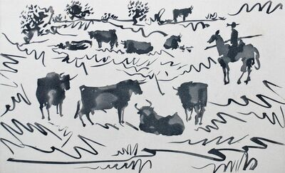 Pablo Picasso, 'Toros en el Campo (Bulls in the Field)', 1959