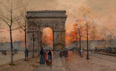 Eugène Galien-Laloue, 'L'Arc de Triomphe, Place de l'Étoile'