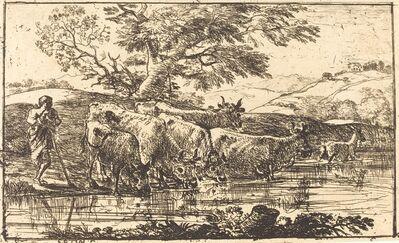 Claude Lorrain, 'The Herd at the Watering Place (Le troupeau à l'abreuvoir)', 1635