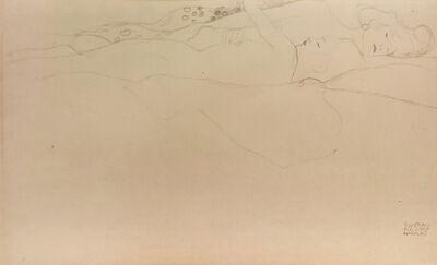 Gustav Klimt, 'Two Lying Female Nudes (Woman and Girl)', 1919