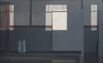 Norman Lundin, 'MONDRIAN'S STUDIO WITH THE LIGHTS OFF (BLUE PITCHER)', 2016