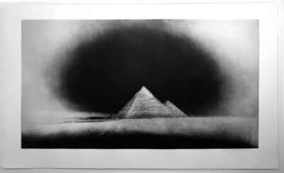 Vera Lutter, 'Chephren and Cheops Pyramids, Giza: January 28,2010', 2011