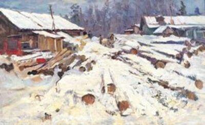 Lidya Stanislavovna Nefedova, 'Logging', 1949