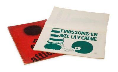 Jean Cassou, 'Mai 68 Affiches', 1968