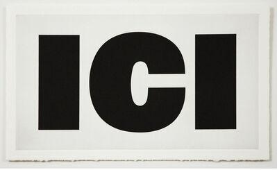 Remy Zaugg, 'ICI', 1988-94