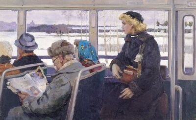 Vladimir Frolovich Stroev, 'The bus', 1955