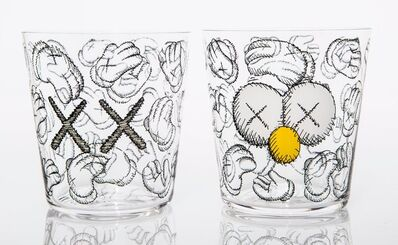 KAWS, 'Seeing/Watching, set of four glasses', 2018