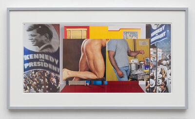 William E. Jones, 'Gutter Collage 18 (Democratic Convention—Wesselmann—ass—painter)', 2018