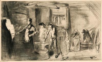 James Abbott McNeill Whistler, 'The Forge', 1861