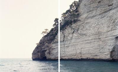 Fabio Barile, 'Slumping in the middle of several limstone and chert layersof the Maiolica Fm. Vignanotica cove, Apulia, Italy. (Diptych)', 2015