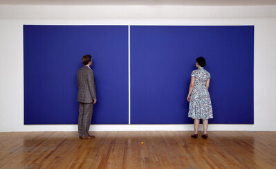 """Alana Riley, 'Alana Riley and an unidentified man standing in front of """"Kettler's Cathedra""""', 2011"""