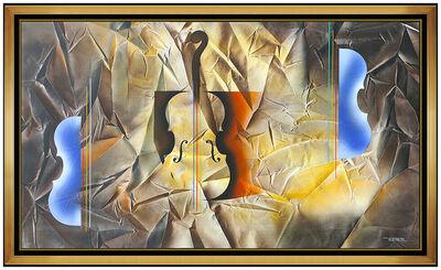 Leonardo Nierman, 'Leonardo Nierman Large Painting On CANVAS Original Oil Signed Abstract Music Art', 2014